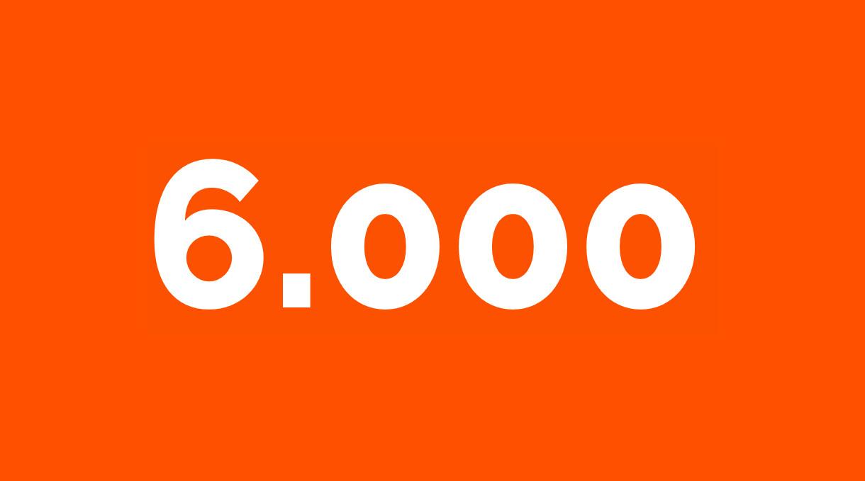 Zahl der Woche aus dem Bereich Compliance: 6000