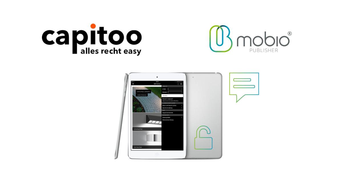 Mitarbeiter App von mobio mit capitoo Unterweisungen