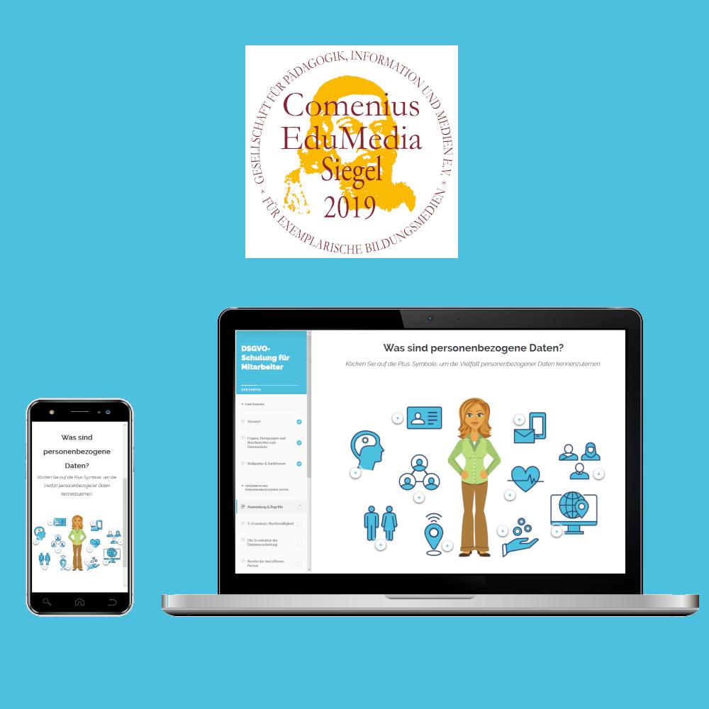 Comenius Award Sieger capitoo Datenschutz Online-Schulung