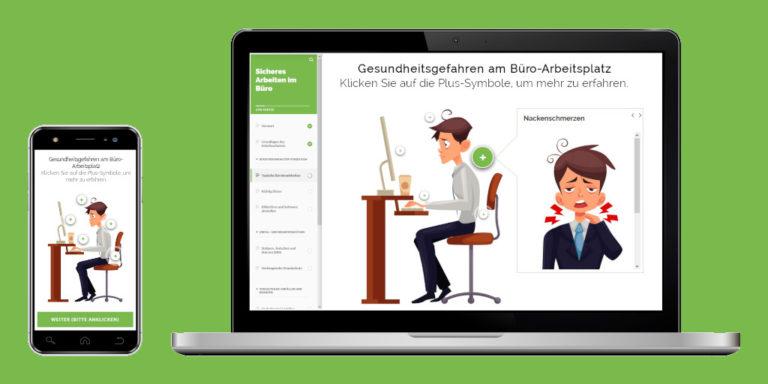 Online-Arbeitsschutz-Unterweisung Büro